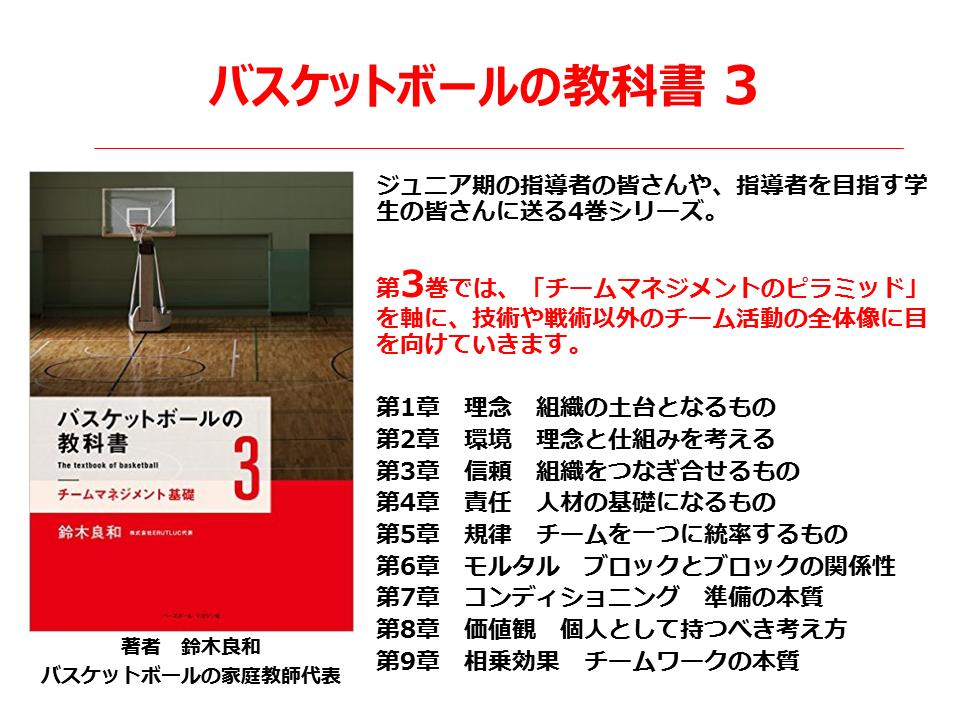 バスケの教科書3巻