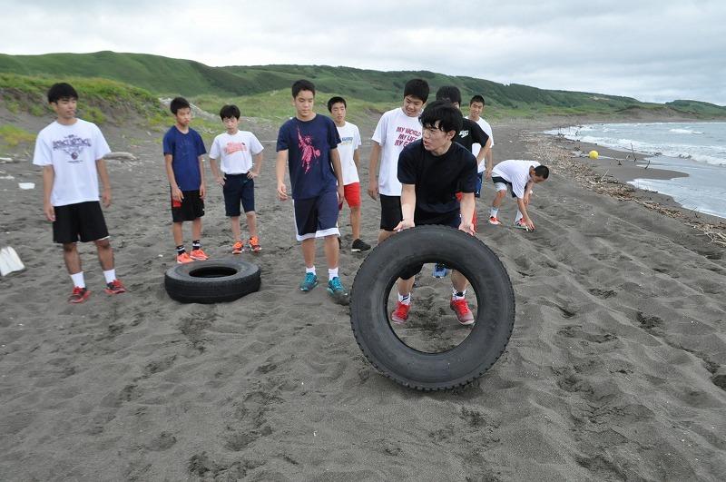 砂浜トレーニング タイヤ