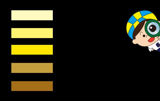 尿の色カラーチャート