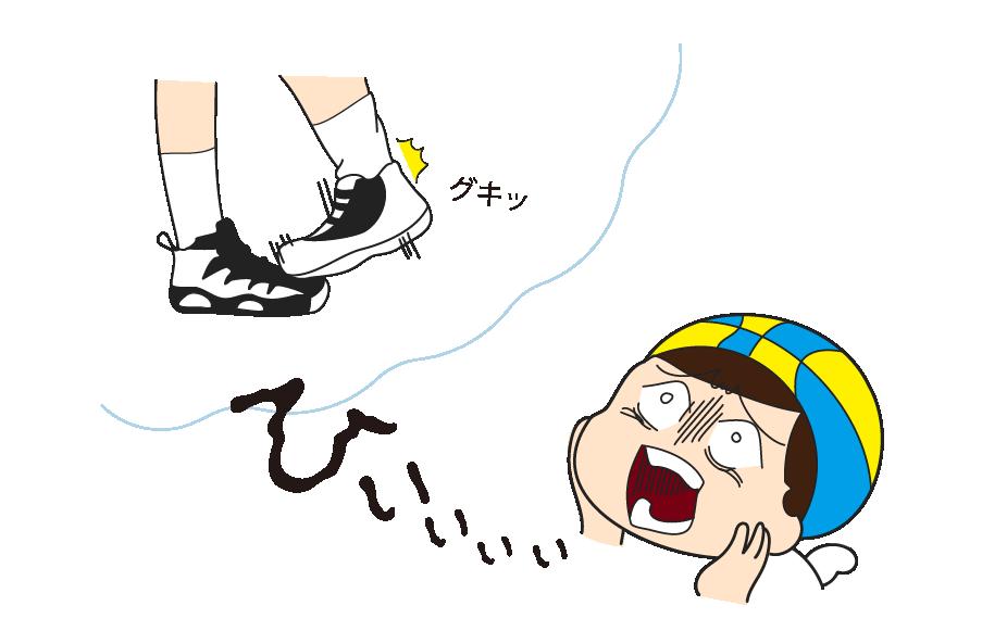 足関節捻挫を思い出す