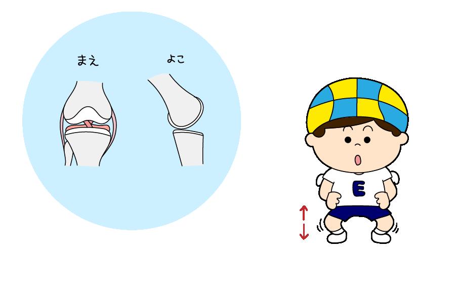 膝関節を動かす